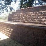 image of properly engineered retaining wall