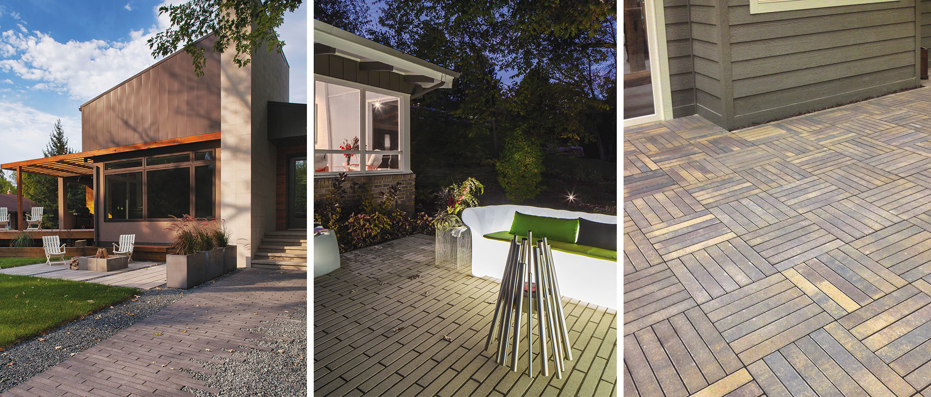 The narrow profile of the Broadmour Plank paver creates a unique, contemporary look for walkways, boulevards and patios.