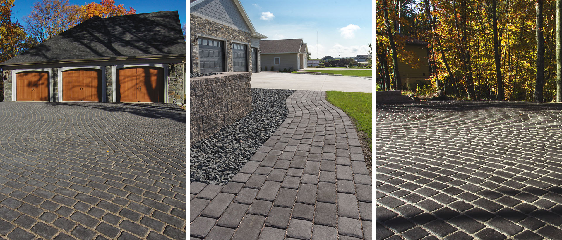 With its textured tops and irregular edges, Cobble Stone Pavers recreate the look of a centuries-old European boulevard. The open joint design makes it ideal for eco-friendly, permeable applications.