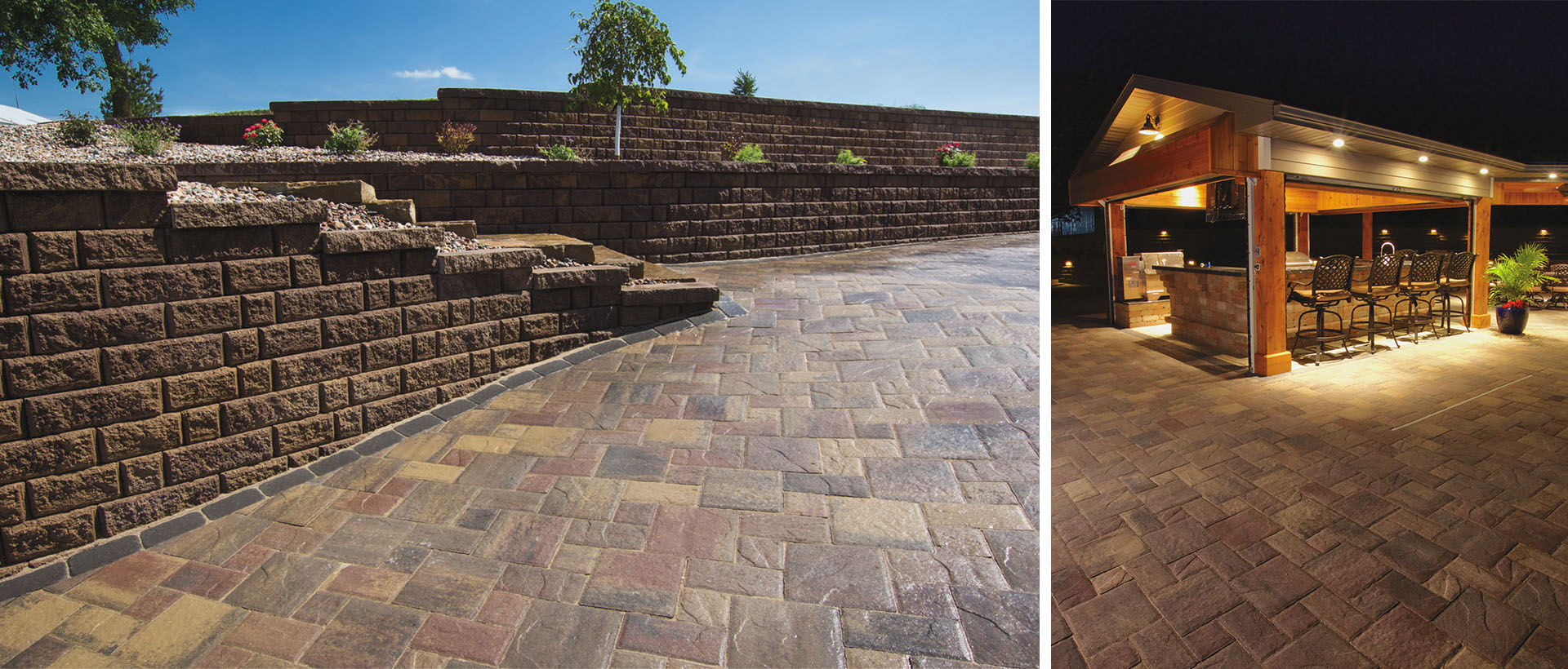 Mezzano is the smaller version of our Minnetonka paver. Its embossed tops and chamfered/irregular edge details are designed for use on patios, pathways, pool decks or vehicular applications.